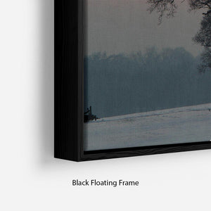 Winter Sunset Floating Frame Canvas - Canvas Art Rocks - 2