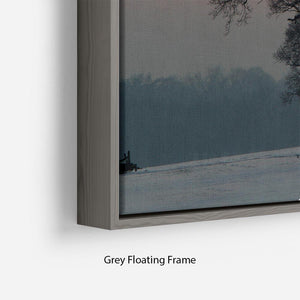 Winter Sunset Floating Frame Canvas - Canvas Art Rocks - 4