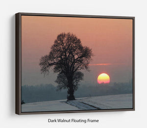 Winter Sunset Floating Frame Canvas - Canvas Art Rocks - 5