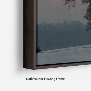 Winter Sunset Floating Frame Canvas - Canvas Art Rocks - 6