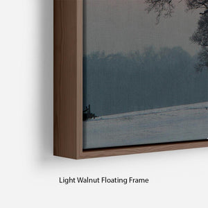 Winter Sunset Floating Frame Canvas - Canvas Art Rocks - 8
