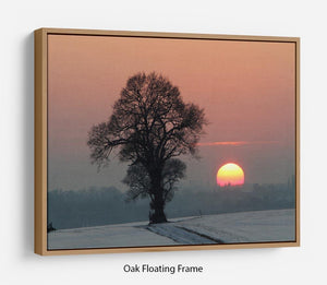 Winter Sunset Floating Frame Canvas - Canvas Art Rocks - 9
