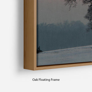 Winter Sunset Floating Frame Canvas - Canvas Art Rocks - 10