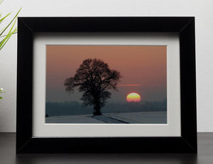 Winter Sunset Framed Print - Canvas Art Rocks - 1