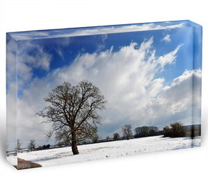 Winters day in wales Acrylic Block - Canvas Art Rocks - 1