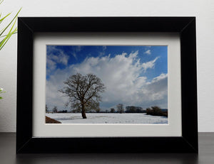 Winters day in wales Framed Print - Canvas Art Rocks - 1