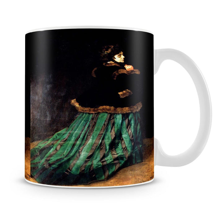Woman In A Green Dress by Monet Mug