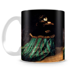 Woman In A Green Dress by Monet Mug - Canvas Art Rocks - 4