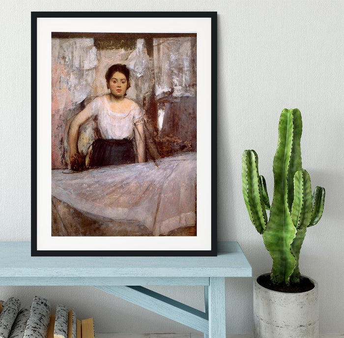 Woman Ironing by Degas Framed Print