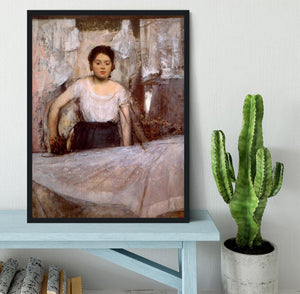 Woman Ironing by Degas Framed Print - Canvas Art Rocks - 2