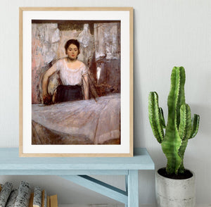 Woman Ironing by Degas Framed Print - Canvas Art Rocks - 3