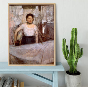 Woman Ironing by Degas Framed Print - Canvas Art Rocks - 4