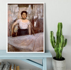 Woman Ironing by Degas Framed Print - Canvas Art Rocks -6