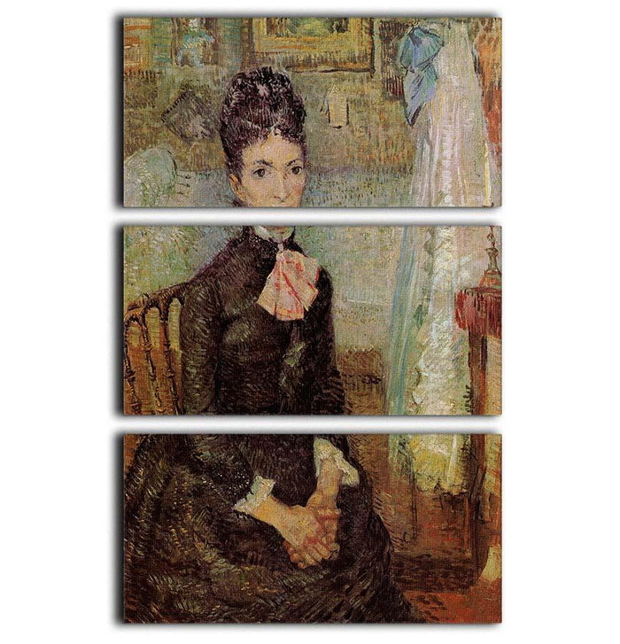 Woman Sitting by a Cradle by Van Gogh 3 Split Panel Canvas Print