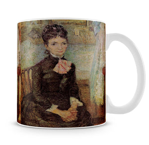 Woman Sitting by a Cradle by Van Gogh Mug - Canvas Art Rocks - 4