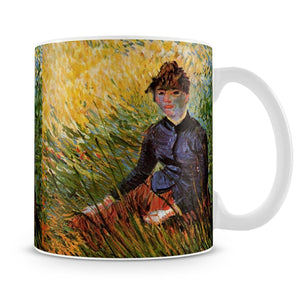 Woman Sitting in the Grass by Van Gogh Mug - Canvas Art Rocks - 4