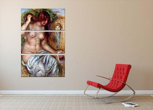 Woman at the Well by Renoir 3 Split Panel Canvas Print - Canvas Art Rocks - 2
