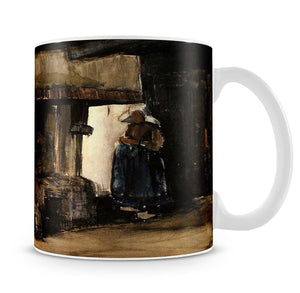 Woman by a Hearth by Van Gogh Mug - Canvas Art Rocks - 4