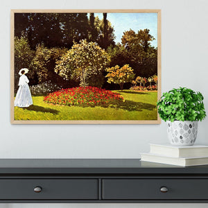 Woman in the garden by Monet Framed Print - Canvas Art Rocks - 4