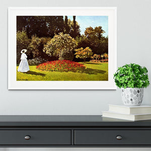 Woman in the garden by Monet Framed Print - Canvas Art Rocks - 5
