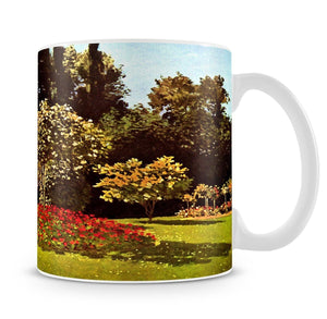 Woman in the garden by Monet Mug - Canvas Art Rocks - 4