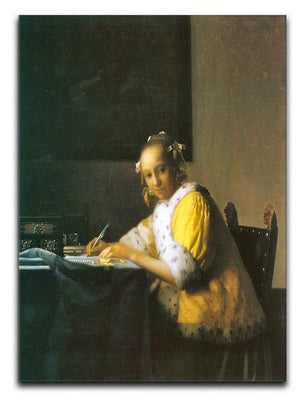 Woman in yellow by Vermeer Canvas Print or Poster - Canvas Art Rocks - 1