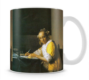 Woman in yellow by Vermeer Mug - Canvas Art Rocks - 1