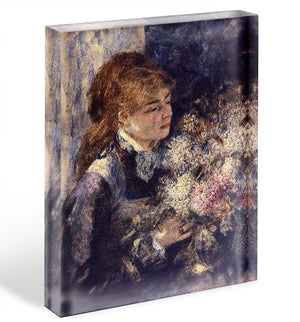Woman with Lilacs by Renoir Acrylic Block - Canvas Art Rocks - 1