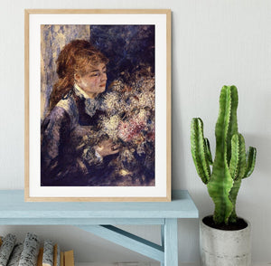 Woman with Lilacs by Renoir Framed Print - Canvas Art Rocks - 3
