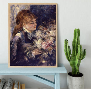 Woman with Lilacs by Renoir Framed Print - Canvas Art Rocks - 4