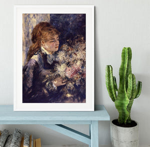 Woman with Lilacs by Renoir Framed Print - Canvas Art Rocks - 5