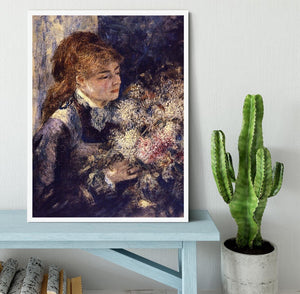 Woman with Lilacs by Renoir Framed Print - Canvas Art Rocks -6