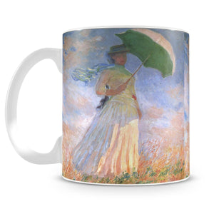 Woman with Parasol 2 by Monet Mug - Canvas Art Rocks - 4