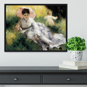 Woman with Parasol by Renoir Framed Print - Canvas Art Rocks - 2