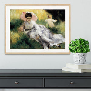 Woman with Parasol by Renoir Framed Print - Canvas Art Rocks - 3