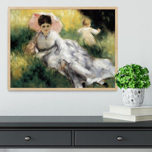 Woman with Parasol by Renoir Framed Print - Canvas Art Rocks - 4