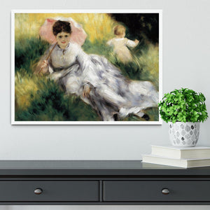 Woman with Parasol by Renoir Framed Print - Canvas Art Rocks -6