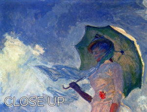 Woman with Parasol study by Monet 3 Split Panel Canvas Print - Canvas Art Rocks - 3