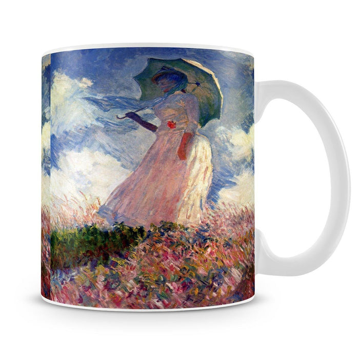 Woman with Parasol study by Monet Mug