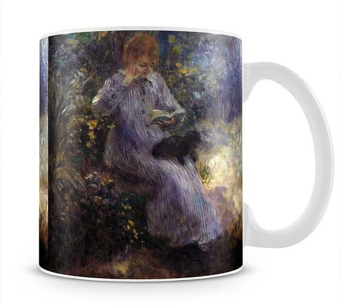 Woman with a black dog by Renoir Mug