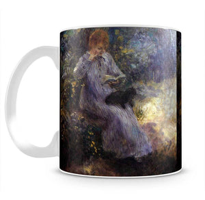 Woman with a black dog by Renoir Mug - Canvas Art Rocks - 2