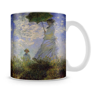 Woman with a parasol by Monet Mug - Canvas Art Rocks - 4