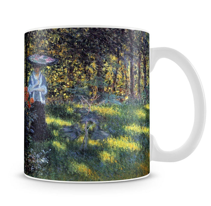 Woman with a parasol in the garden of Argenteuil by Monet Mug