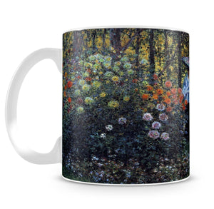 Woman with a parasol in the garden of Argenteuil by Monet Mug - Canvas Art Rocks - 4