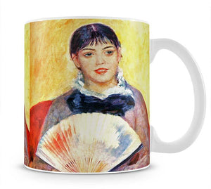 Woman with fan by Renoir Mug - Canvas Art Rocks - 1