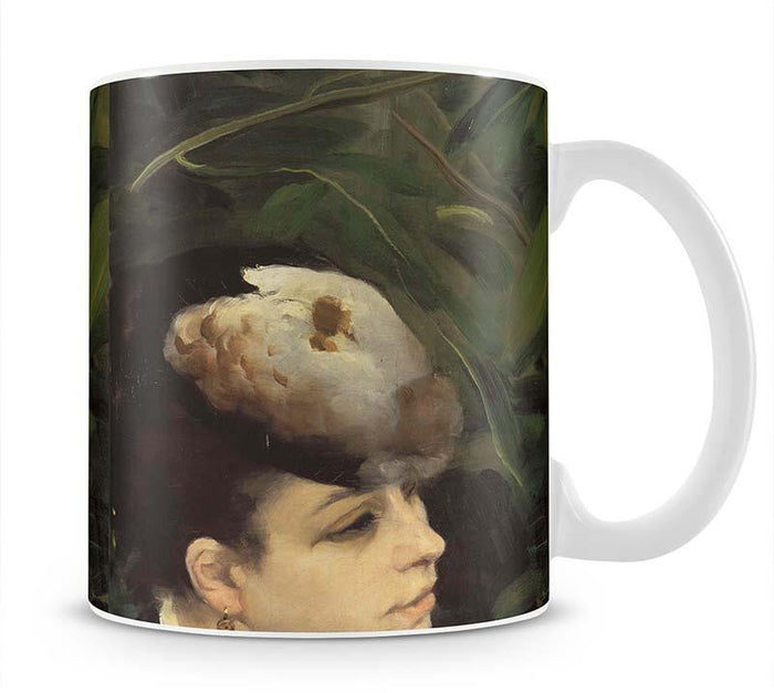 Woman with gull feathe Detail by Renoir Mug