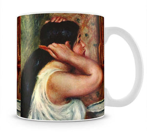 Woman with hair combs by Renoir Mug - Canvas Art Rocks - 1