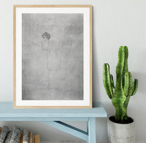 Woman with hat in profile by Klimt Framed Print - Canvas Art Rocks - 3