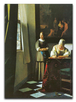 Woman with messenger by Vermeer Canvas Print or Poster - Canvas Art Rocks - 1