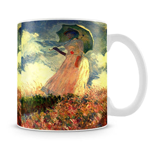 Woman with sunshade by Monet Mug - Canvas Art Rocks - 4